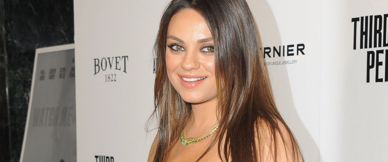"PHOTO: Mila Kunis arrives at the Los Angeles premiere for ""Third Person"""