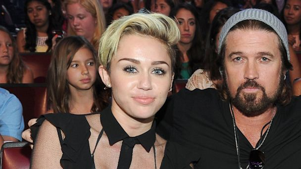 PHOTO: Actress/musician Miley Cyrus and musician Billy Ray Cyrus