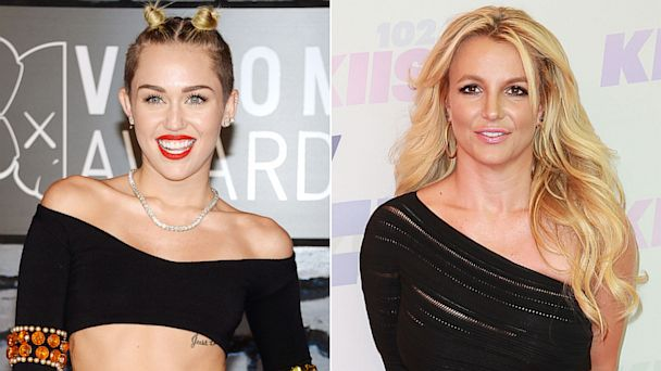GTY miley cyrus britney spears jef 130910 16x9 608 Miley Teams Up With Britney on Upcoming Single