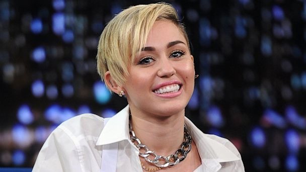"PHOTO: Miley Cyrus visits ""Late Night with Jimmy Fallon,"" Oct. 8, 2013, in New York City."