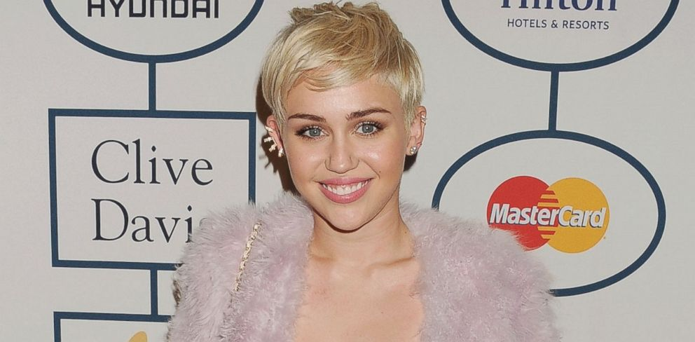 PHOTO: Miley Cyrus attends the 56th annual GRAMMY Awards at The Beverly Hilton in Los Angeles