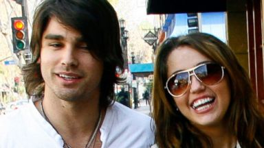 PHOTO: Justin Gaston and Miley Cyrus in Los Angeles, March 14, 2009.