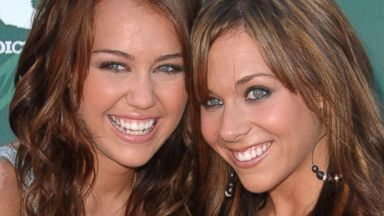 PHOTO: Miley Cyrus and Mandy Jiroux arrive at the 2008 Teen Choice Awards at the Gibson Amphitheater, Aug. 3, 2008, in Los Angeles.