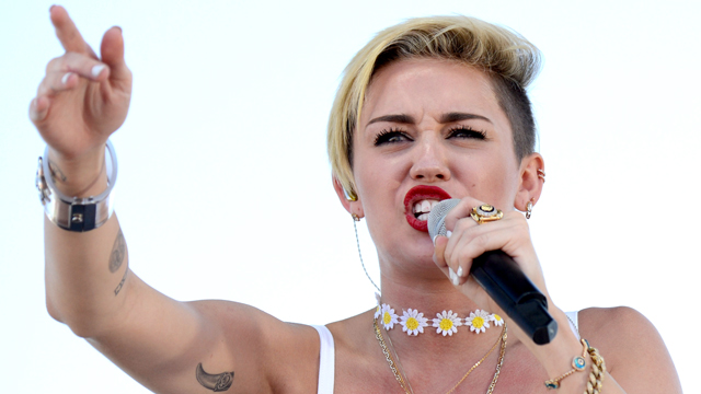PHOTO: Miley Cyrus performs at the iHeartRadio Music Festival Village in Las Vegas.