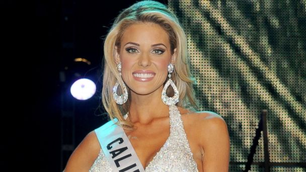PHOTO: Miss USA 2009 1st runner up Carrie Prejean poses for photos at Planet Hollywood Resort & Casino, April 19, 2009, in Las Vegas.