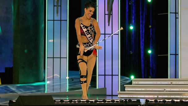 GTY miss florida jef 130913 16x9 608 Miss Florida, Despite Knee Injury, Wins Miss America Talent Competition