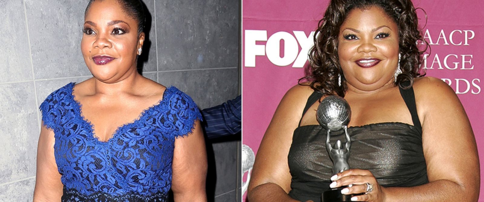 PHOTO: MoNique in 2014 and 2005.