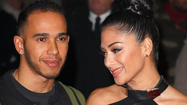 PHOTO: Lewis Hamilton and Nicole Scherzinger attend the World Premiere of Jack Reacher