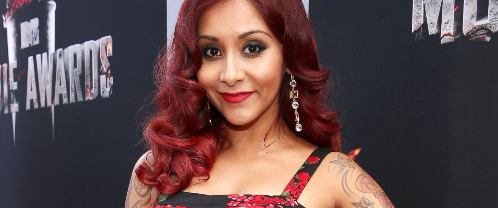 PHOTO: Nicole Snooki Polizzi attends the 2014 MTV Movie Awards at Nokia Theatre L.A. Live, April 13, 2014, in Los Angeles.V