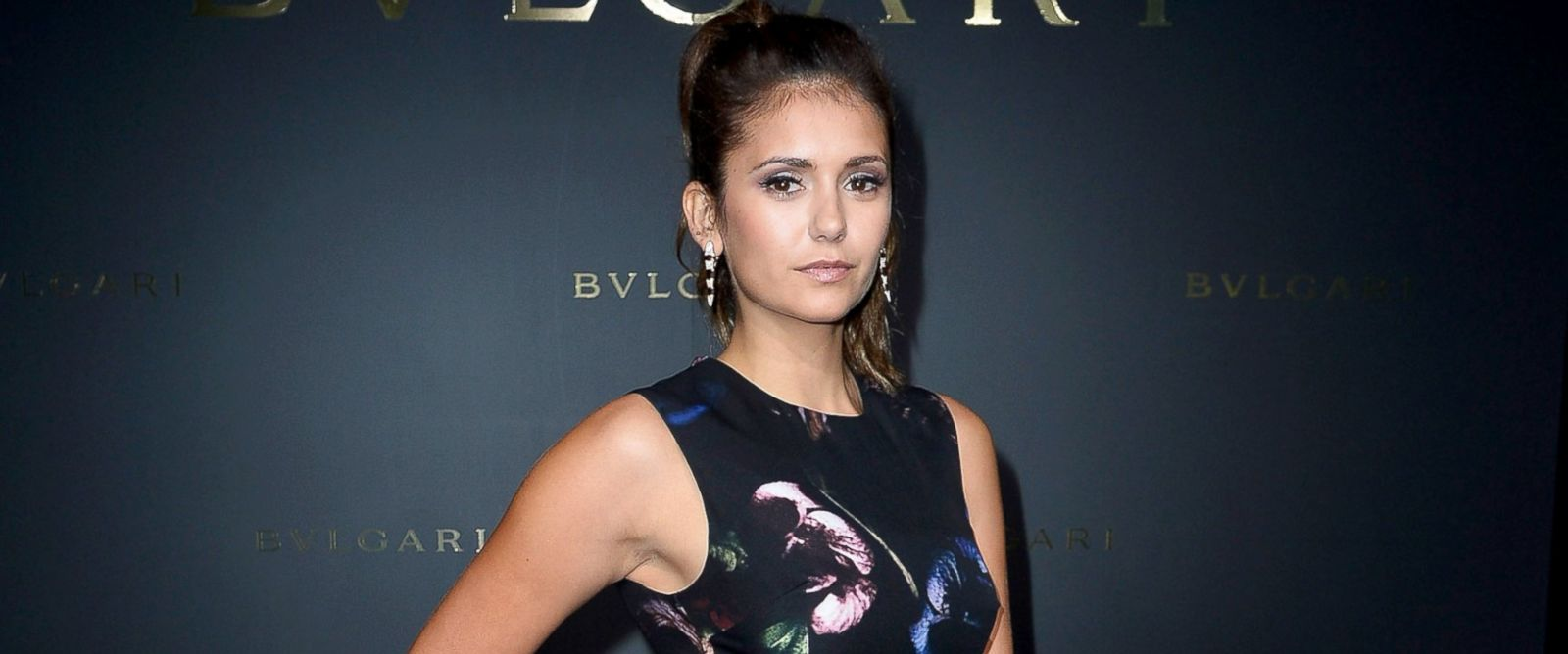 PHOTO: Nina Dobrev attends the Bulgari Cocktail Event At Apicius as part of Paris Fashion Week at Apicius, July 8, 2014, in Paris.