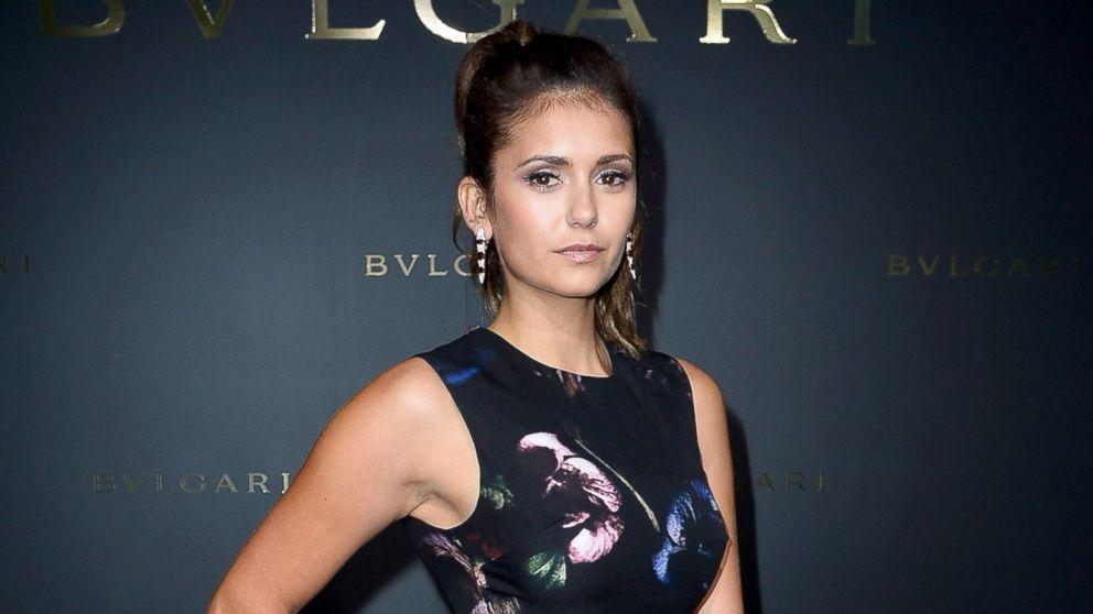 PHOTO: Nina Dobrev attends the Bulgari Cocktail Event At Apicius as part of Paris Fashion Week at Apicius, July 8, 2014, in Paris.