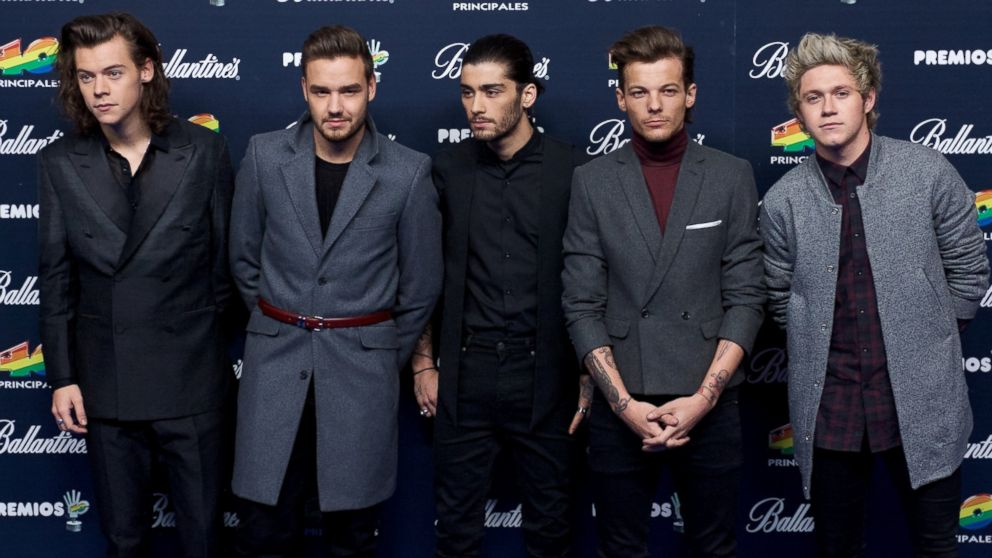 PHOTO: From left, Harry Styles, Liam Payne, Zayn Malik, Louis Tomlinson and Niall Horan of One Direction are pictured on Dec. 12, 2014 in Madrid, Spain.