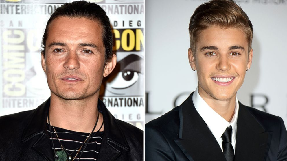 PHOTO: Orlando Bloom is seen during Comic-Con, July 26, 2014, in San Diego. | Justin Bieber attends amfARs 21st Cinema Against AIDS Gala, May 22, 2014, in Cap dAntibes, France.