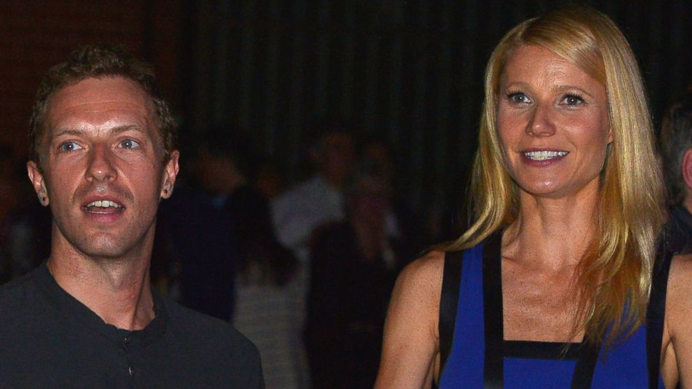 PHOTO: Chris Martin, left, and Gwyneth Paltrow, right, are pictured on Jan. 28, 2014 in