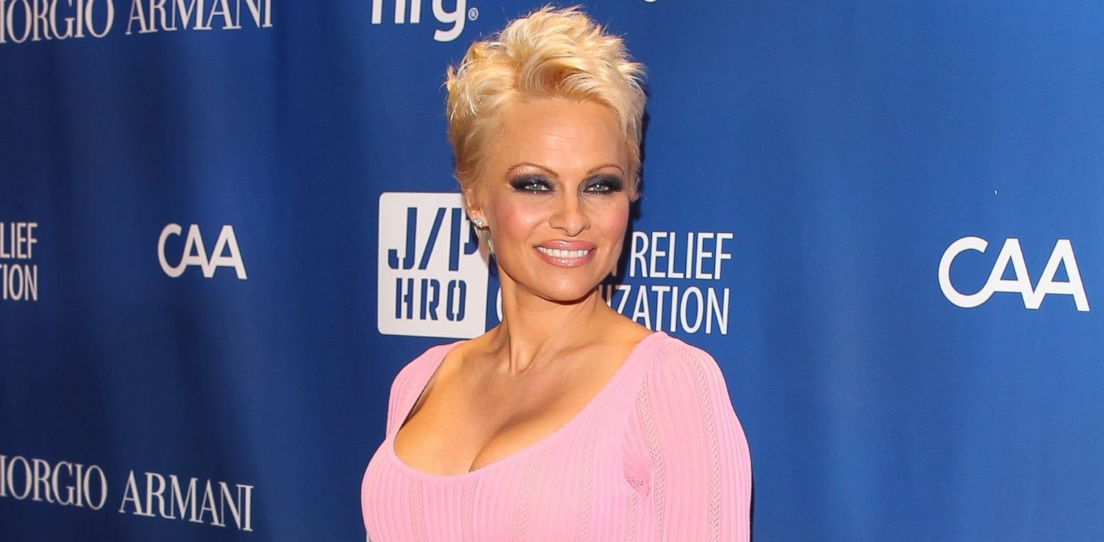 PHOTO: Pamela Anderson attends the Sean Penn 3rd Annual Help Haiti Home Gala Benefiting J/P HRO Presented By Giorgio Armani at Montage Beverly Hills on Jan. 11, 2014 in Beverly Hills, Calif.