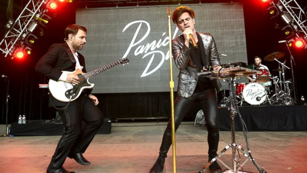 PHOTO: Kenneth Harris and Brendon Urie of Panic! at the Disco perform during Live 105s BFD at Shoreline Amphitheatre, June 6, 2015, in Mountain View, Calif.
