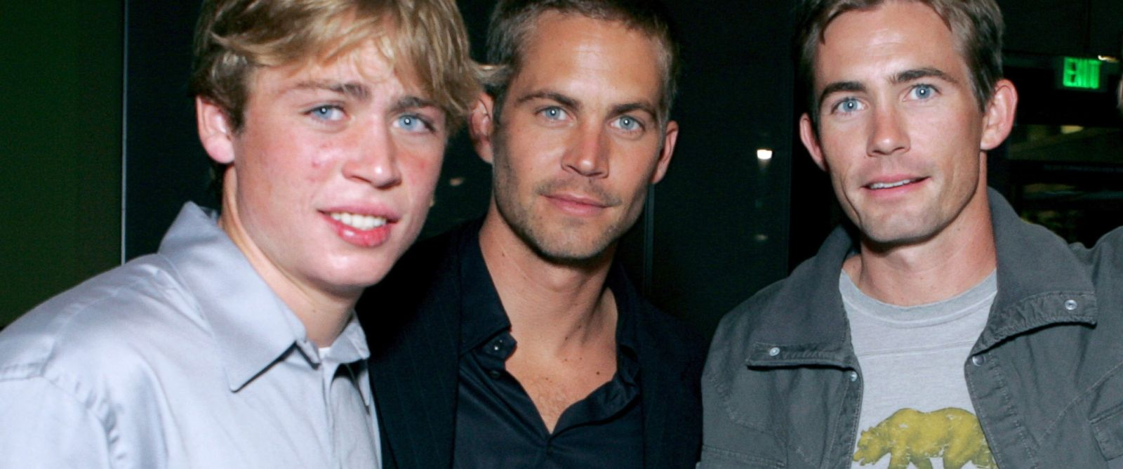 "PHOTO: Cody Walker, Paul Walker and Caleb Walker during MGM Pictures and Columbia Pictures ""Into the Blue"" after party at Napa Valley Grill in Westwood, Calif."