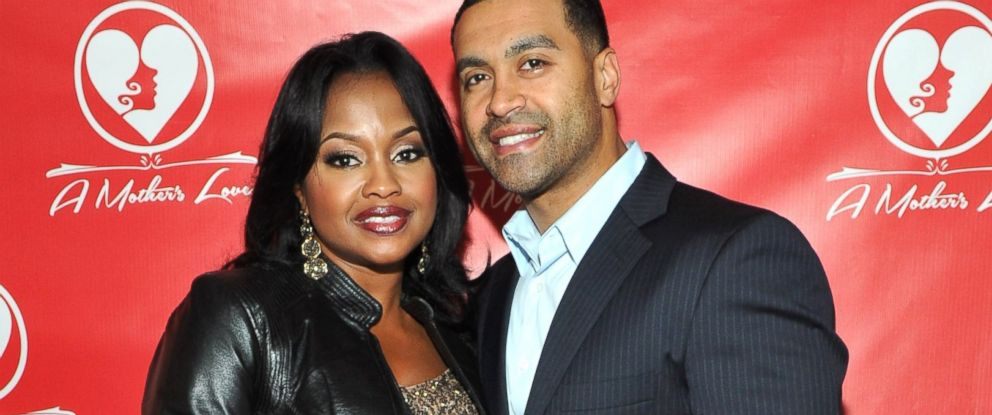 "PHOTO: Phaedra Parks and Apollo Nida attend the opening night of ""A Mothers Love"" at Rialto Center for the Arts, Nov. 22, 2013, in Atlanta."