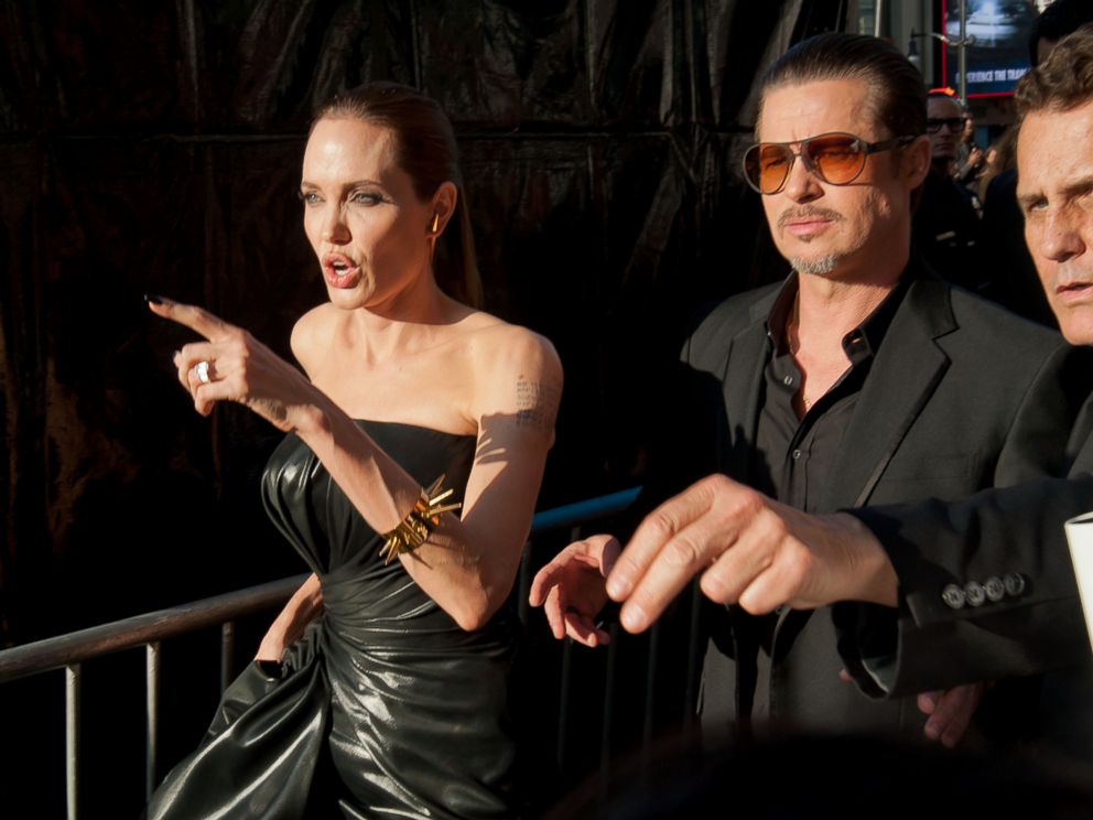 PHOTO: Angelina Jolie and Brad Pitt are seen at the Maleficent premiere, May 28, 2014, in Los Angeles.