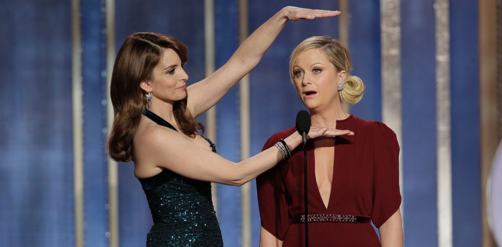 PHOTO: In this file photo, Tina Fey, left, and Amy Poehler, right, host the 70th Annual Golden Globe Awards on Jan. 13, 2013 in Beverly Hills, Calif.