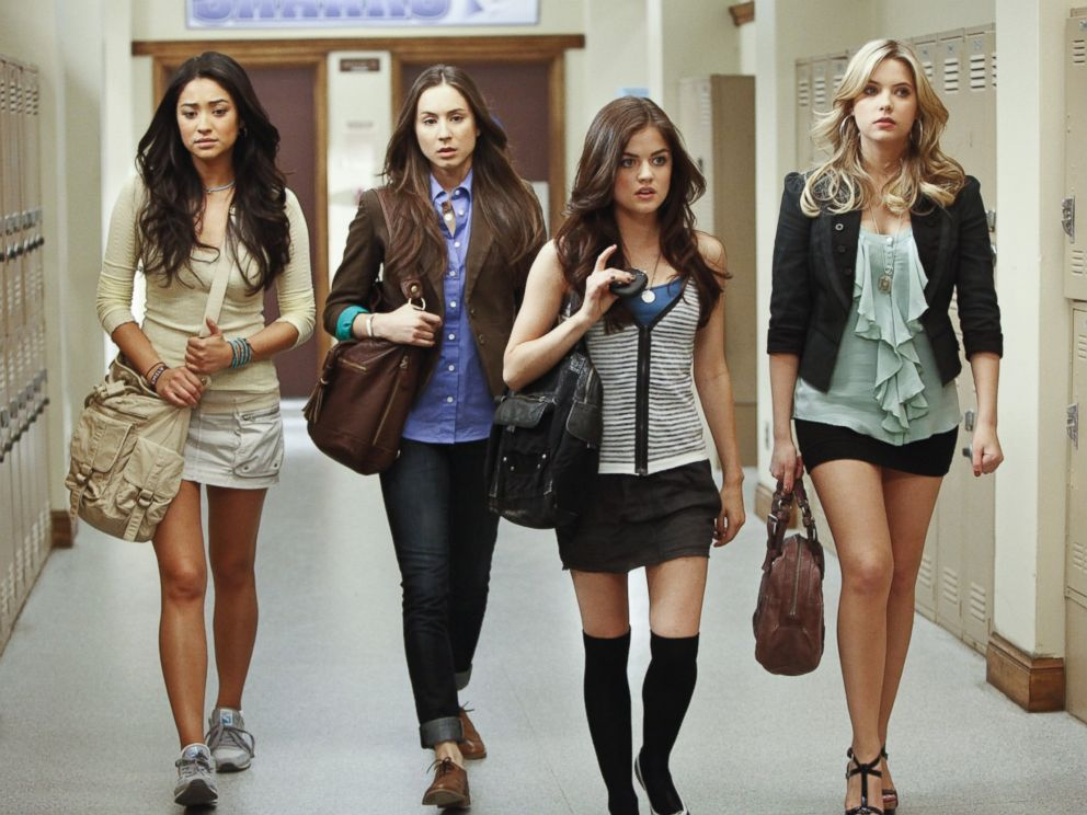 PHOTO: Shay Mitchell, Troian Bellisario, Lucy Hale and Ashley Benson in the first season of Pretty Little Liars.