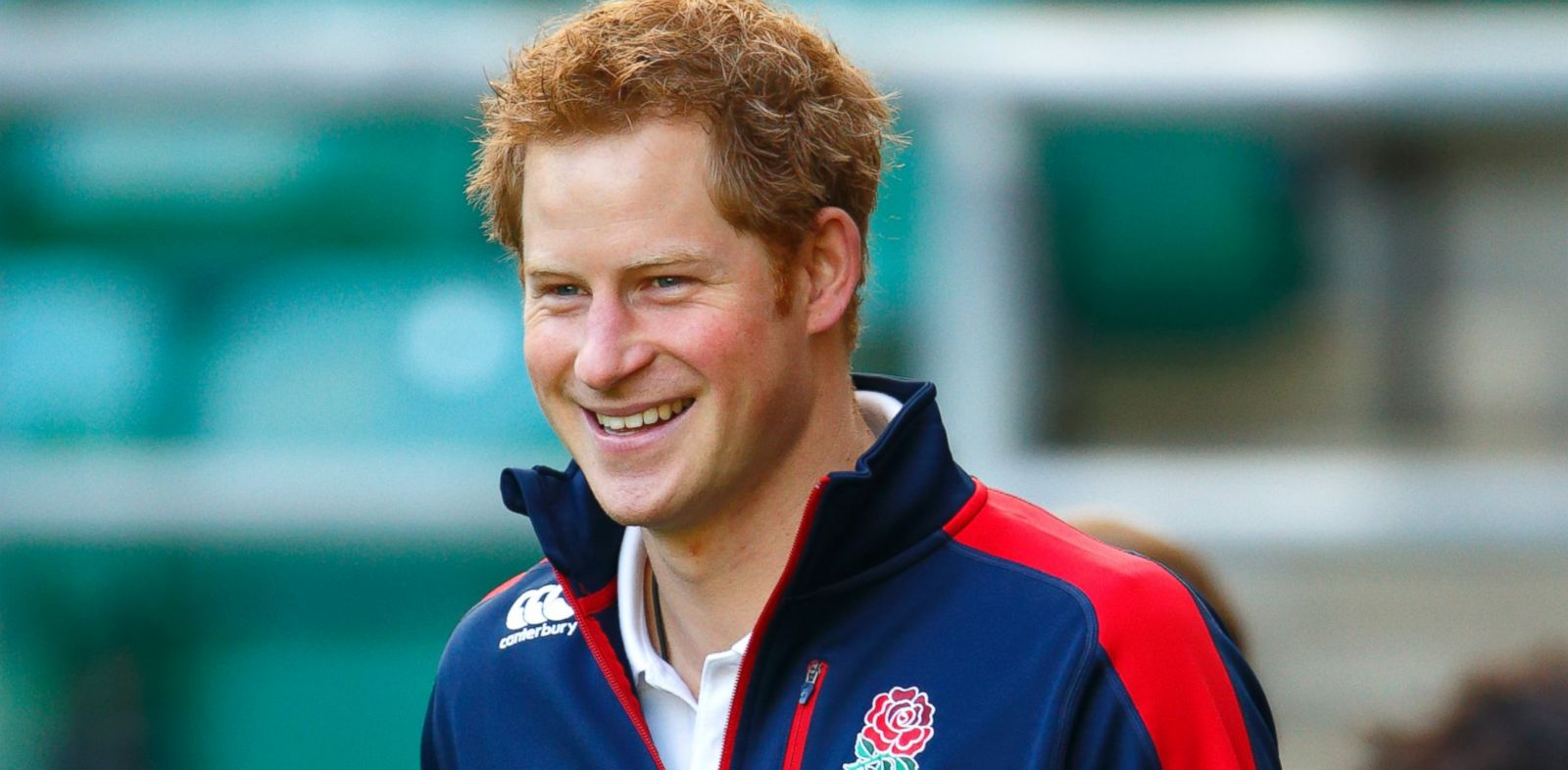 PHOTO: In this file photo, Prince Harry, in his role as Patron of the Rugby Football Union All Schools Programme, arrives to take part in a rugby coaching session at Twickenham Stadium on Oct.17, 2013 in London.