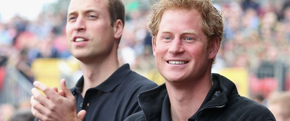 PHOTO: Prince William, Duke of Cambridge and his brother Prince Harry cheers the athletes during the Invictus Games athletics at Lee Valley, in this Sept. 11, 2014 file photo, in London.