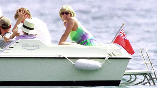 PHOTO: Diana, Princess Of Wales is seen in St. Tropez in the summer of 1997.