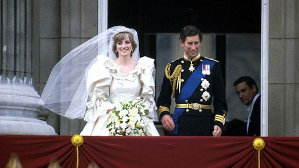 PHOTO: Prince Charles and Princess Diana stand