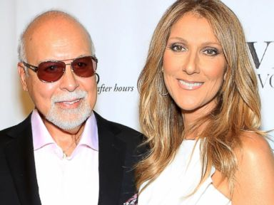 PHOTO: Rene Angelil and Celine Dion arrive at the premiere of the show Veronic Voices at Ballys Las Vegas, June 28, 2013, in Las Vegas.