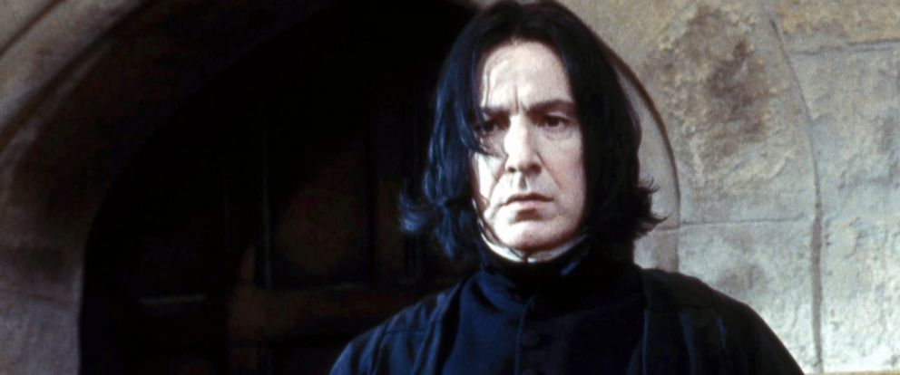 "PHOTO: Alan Rickman, as Severus Snape, in a scene from ""Harry Potter and the Sorcerers Stone."""