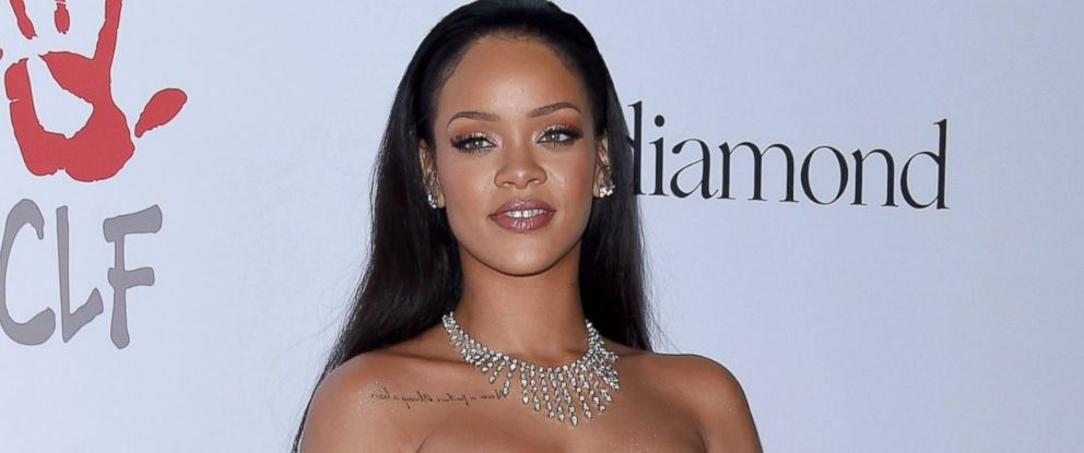 PHOTO: Rihanna arrives at Rihanna and The Clara Lionel Foundation Host 2nd Annual Diamond Ball at The Barker Hanger, Dec. 10, 2015, in Santa Monica, Calif.