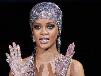 Rihanna's Dress 'Just Fishnet and Crystals,' Designer Says