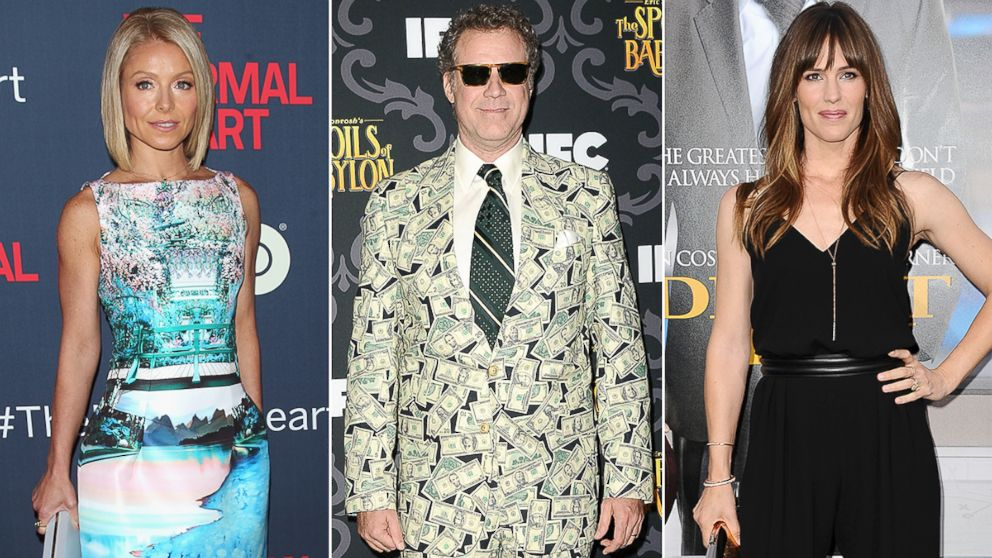 PHOTO: Kelly Ripa, WIll Ferrell, and Jennifer Garner will receive stars on the Hollywood Walk of Fame.