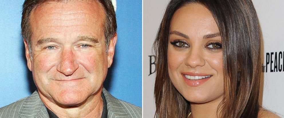 "PHOTO: Left, actor/comedian Robin Williams arrives at the premiere of ""Monty Pythons Spamalot"" in this March 31, 2007, file photo; right, actress Mila Kunis arrives at the Los Angeles premiere of Third Person at Pickford Center for Motion Study."