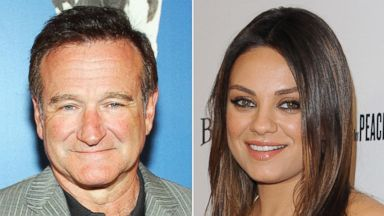 PHOTO: Left, actor/comedian Robin Williams arrives at the premiere of Monty Pythons Spamalot in this March 31, 2007, file photo; right, actress Mila Kunis arrives at the Los Angeles premiere of Third Person at Pickford Center for Motion Study.