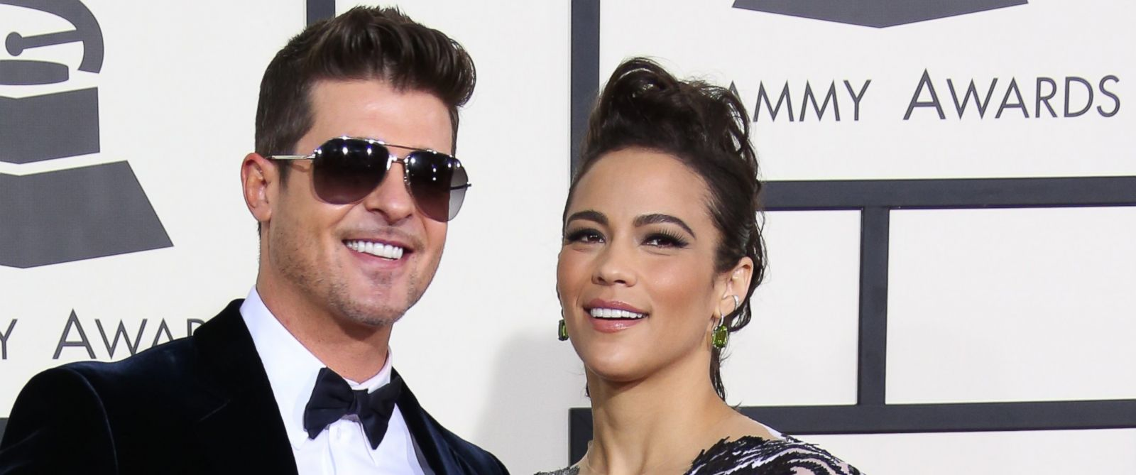 PHOTO: Robin Thicke and Paula Patton arrive at the 20th Annual Screen Actors Guild Awards at the Shrine Auditorium, Jan. 18, 2014 in Los Angeles.