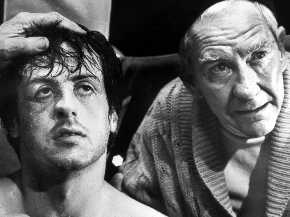 PHOTO: Sylvester Stallone and Burgess Meredith in Rocky.