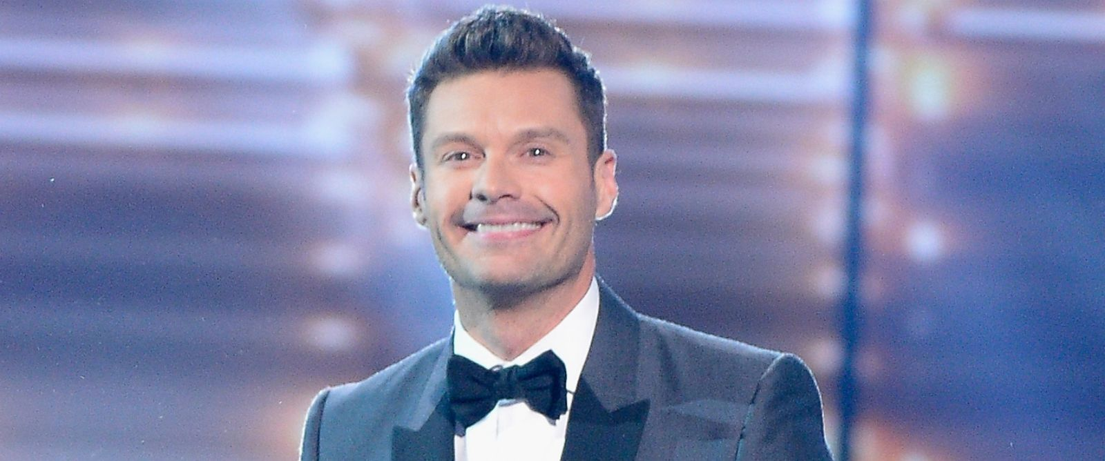 """PHOTO: Host Ryan Seacrest speaks onstage during FOXs """"American Idol"""" Finale For The Farewell Season at Dolby Theater, April 7, 2016 in Hollywood, Calif."""