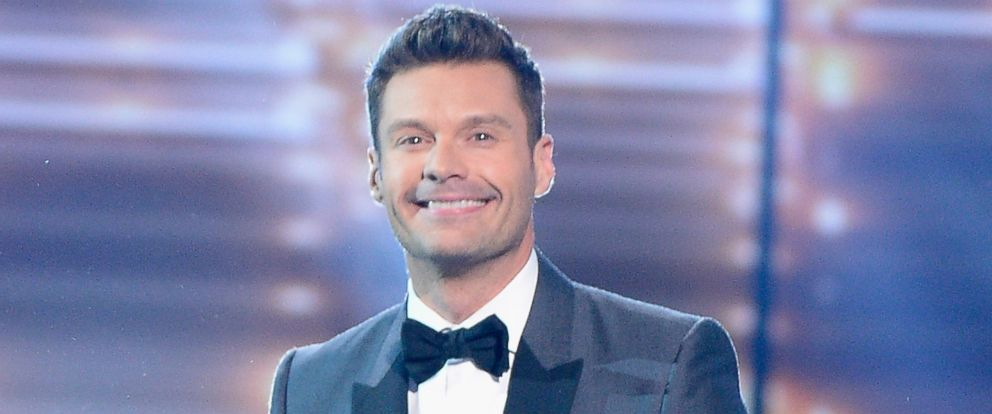 "PHOTO: Host Ryan Seacrest speaks onstage during FOXs ""American Idol"" Finale For The Farewell Season at Dolby Theater, April 7, 2016 in Hollywood, Calif."