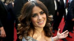 Salma Hayek Is All Smiles on the Red Carpet
