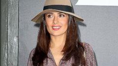 Salma Hayek Attends Paris Fashion Week