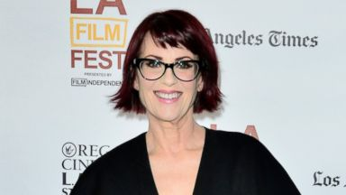 "PHOTO: Actress Megan Mullally attends the premiere of ""Trouble Dolls"" during the 2014 Los Angeles Film Festival at Regal Cinemas L.A. Live on June 15, 2014 in Los Angeles, Calif."