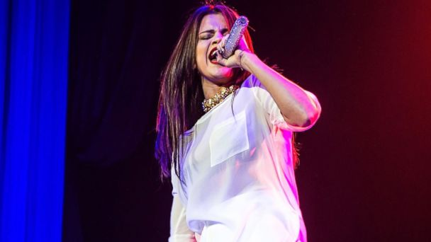 GTY selena gomez jef 131015 16x9 608 Watch Selena Gomez Take a Tumble on Stage During Concert