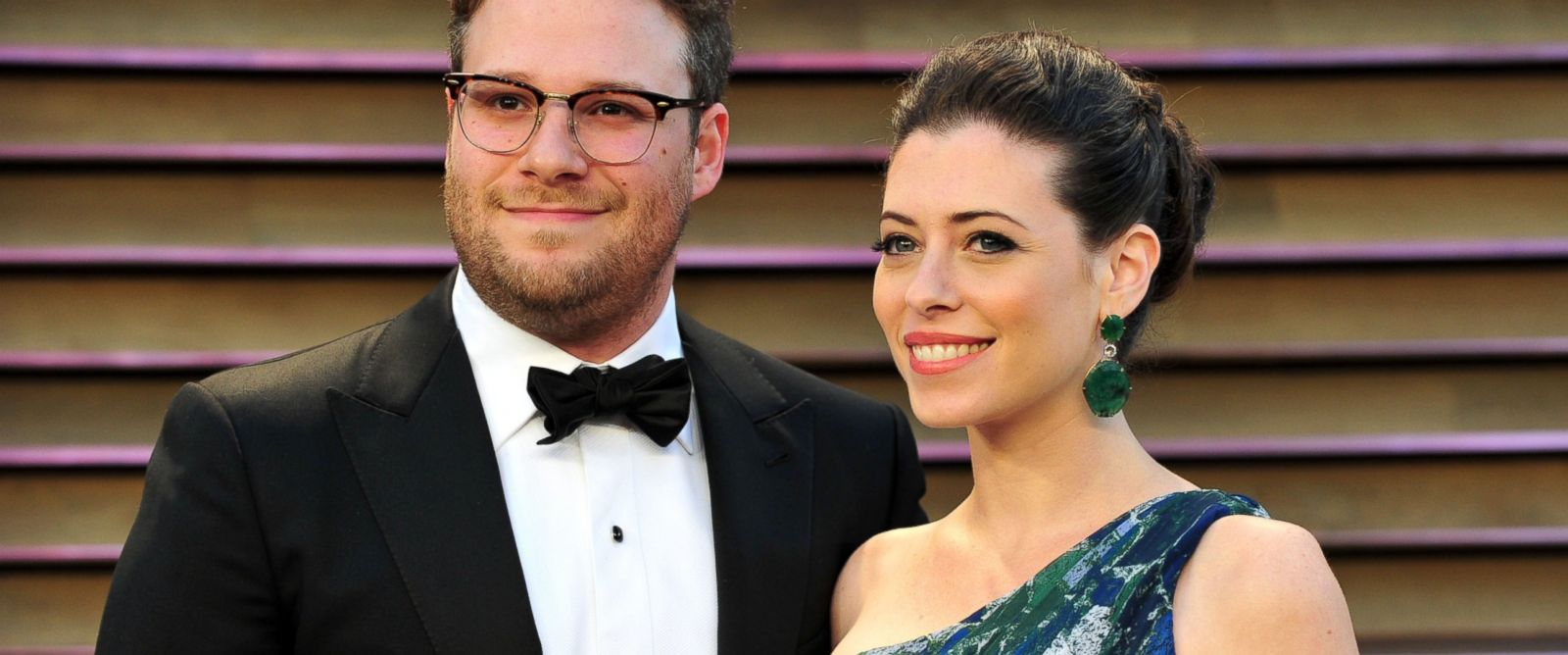 PHOTO: Seth Rogen and Lauren Miller attend the 2014 Vanity Fair Oscar Party, March 2, 2014, in West Hollywood, Calif.