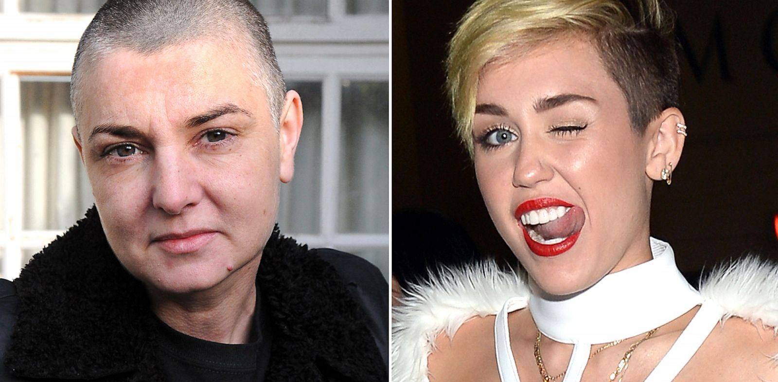 PHOTO: Sinead OConnor and Miley Cyrus