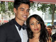 PHOTO: Siva Kaneswaran and Nareesha McCaffrey are seen at a premiere, July 18, 2012, in London.