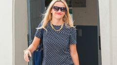 Reese Witherspoon Spices Up Her Outfit With Bright Shoes