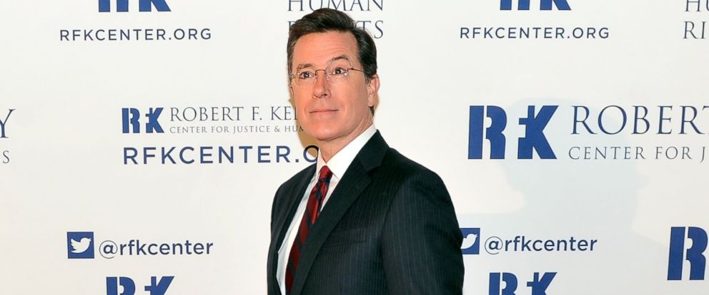 PHOTO: Satirist Stephen Colbert attends Robert F. Kennedy Center for Justice and Human Rights 2013 Ripple of Hope Awards Dinner at New York Hilton Midtown in this Dec. 11, 2013, file photo.