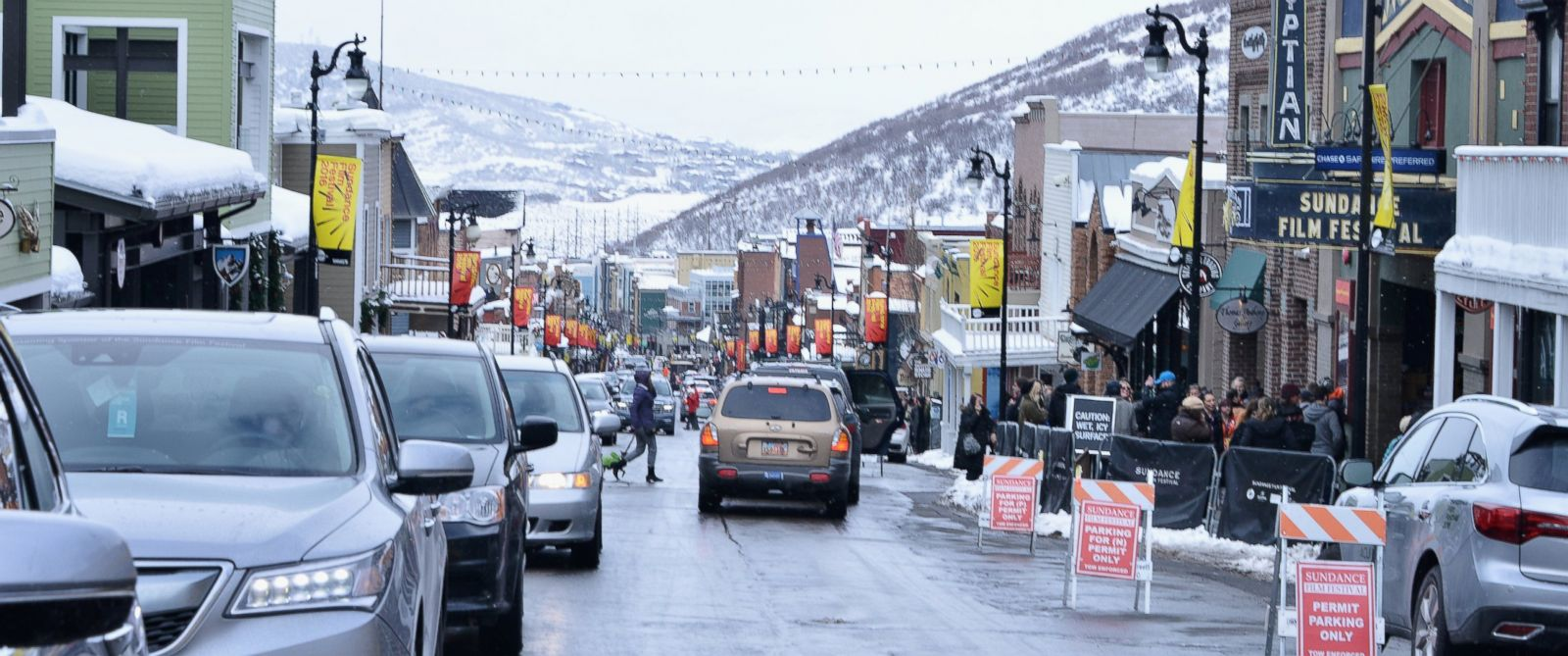 PHOTO: A view of the Egyptian Theatre on Main Street and outdoor atmosphere during 2016 Sundance Film Festival, Jan. 24, 2016, in Park City, Utah.